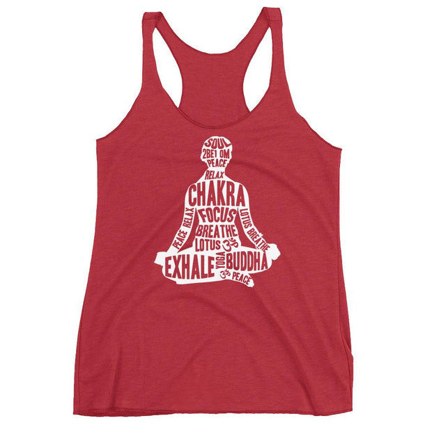 Buddhist Words Racerback Tank