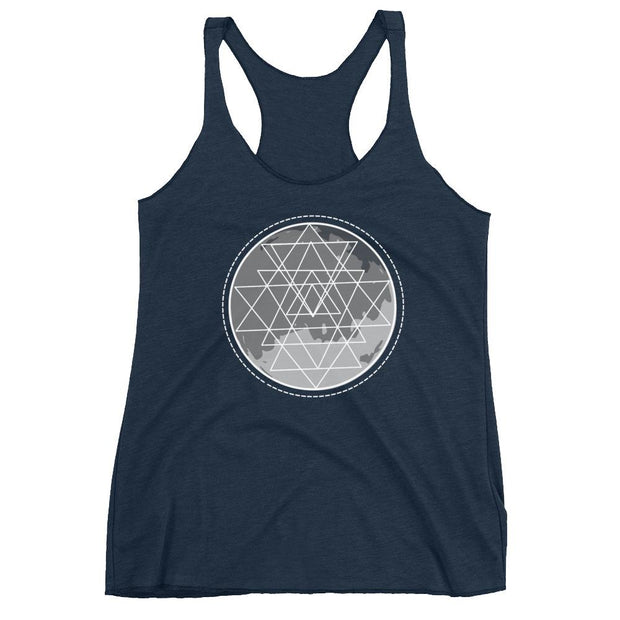 Full Moon Sacred Geometry Racerback Tank