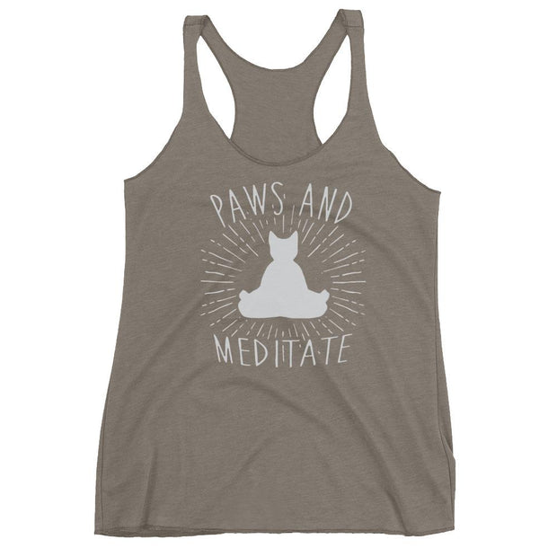 Paws And Meditate Racerback Tank
