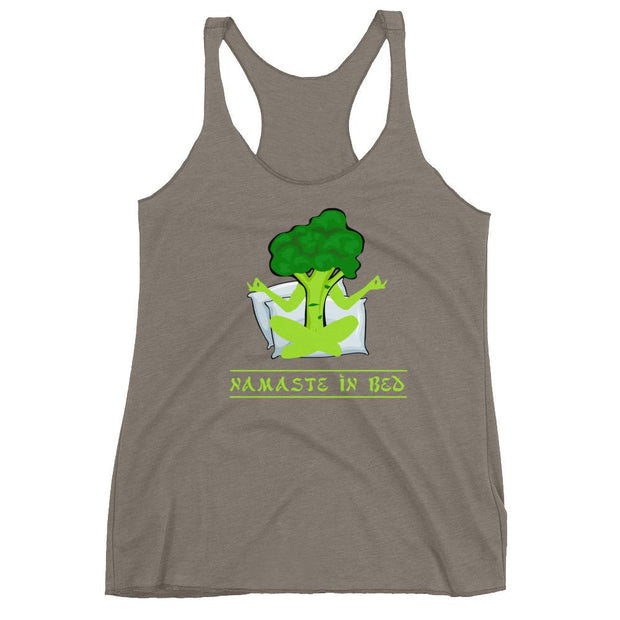 Namaste In Bed Racerback Tank