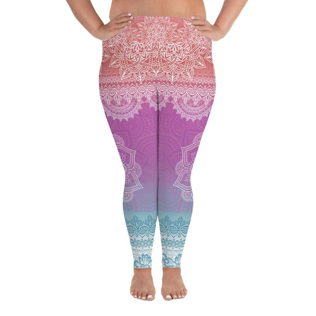 Bright Mediation Plus Size Leggings