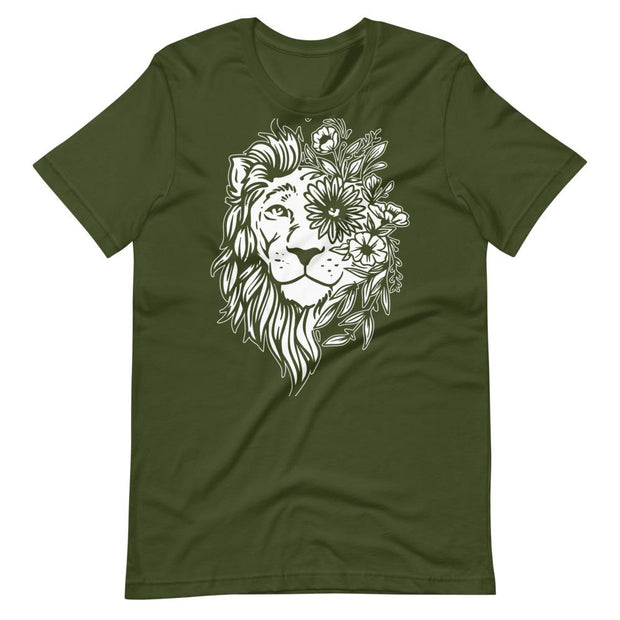Lion Flower Mandala T-Shirt