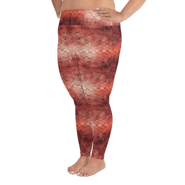 Hexagon Plus Size Leggings