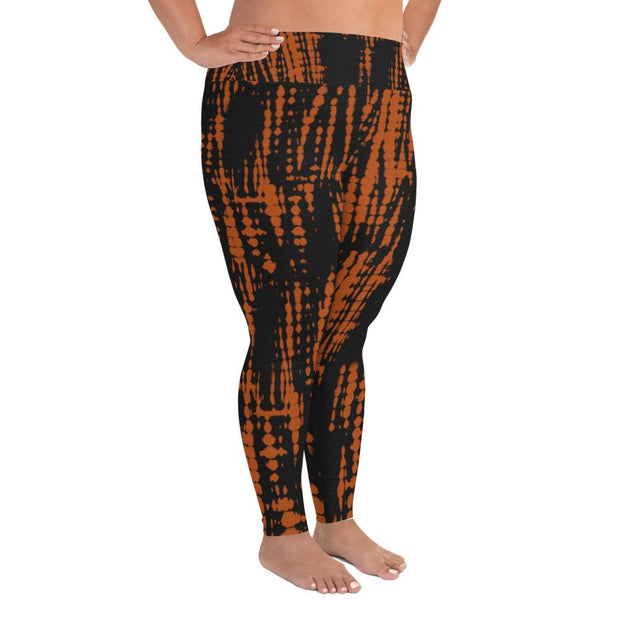 Fire Tie Dye Plus Size Leggings