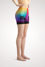 Colorful Tree of Life Yoga Shorts