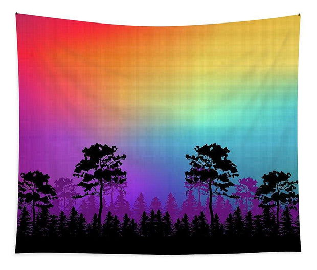 Colorful Tree of Life Tapestry 68 x 80