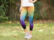 Colorful Tree of Life Capris