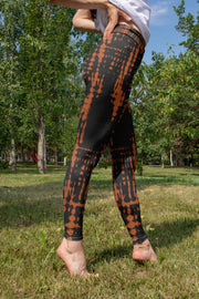 Fire Tie Dye Yoga Pants In Nature