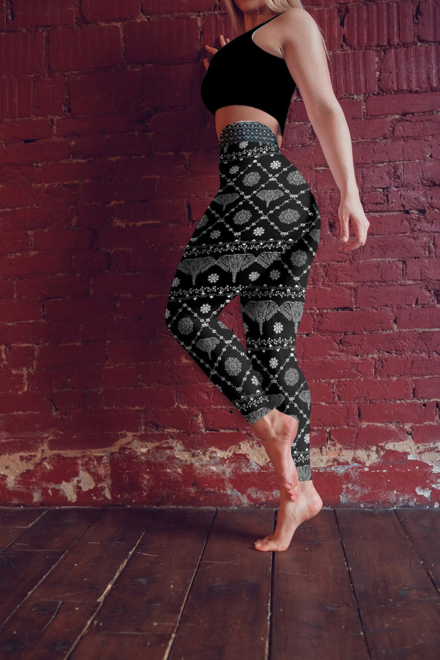 Wild Elephant Yoga Pants Model