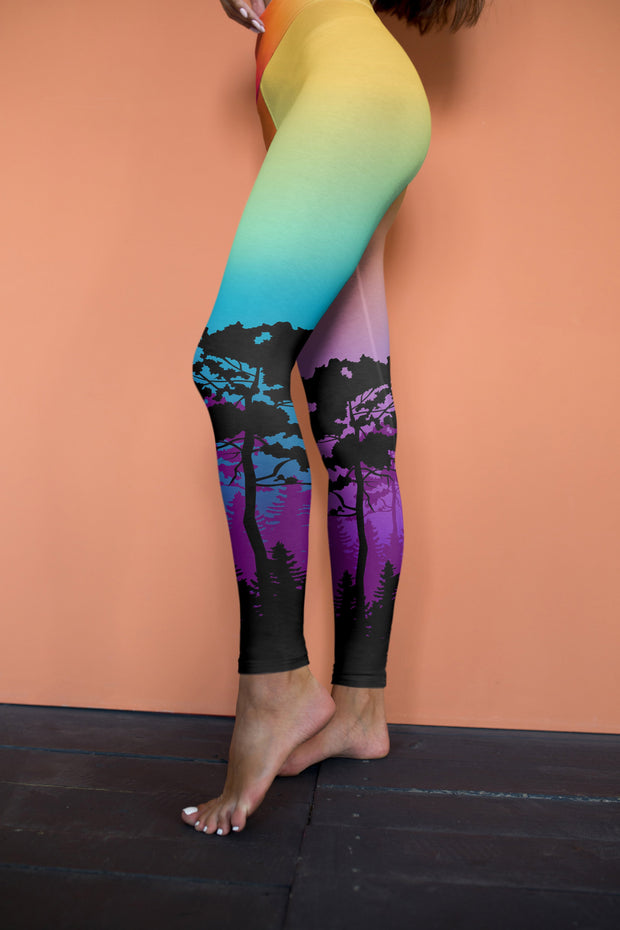 Colorful Tree of Life Yoga Pants