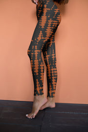 Fire Tie Dye Yoga Pants