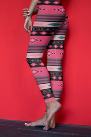Santa Fe Yoga Pants Red Background