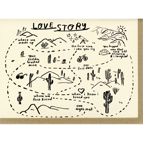 Love Story People I've Loved greeting card designed in Oakland, CA by Carissa Potter