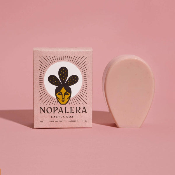Nopalera's Flor De Mayo Jasmine cactus soaps are handmade with plant butters and oils that cleanse and leave your skin moisturized