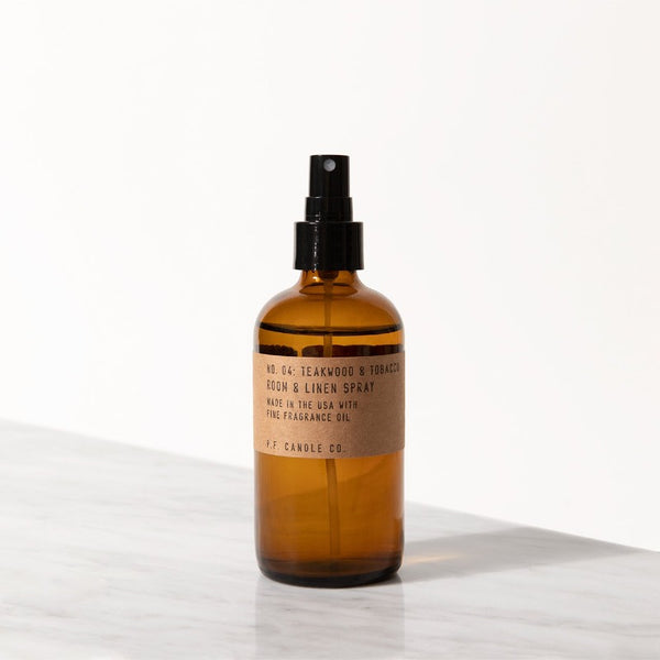 PF Candle Co Teakwood & Tobacco room & linen spray