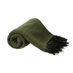 PF Candle Co olive green falsa blanket from Mexico