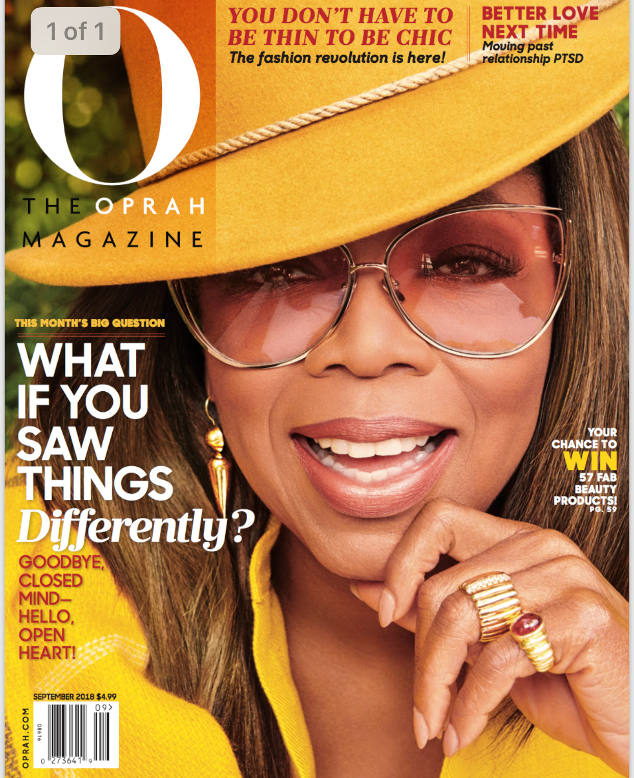 we got the cover of the september O magazine!