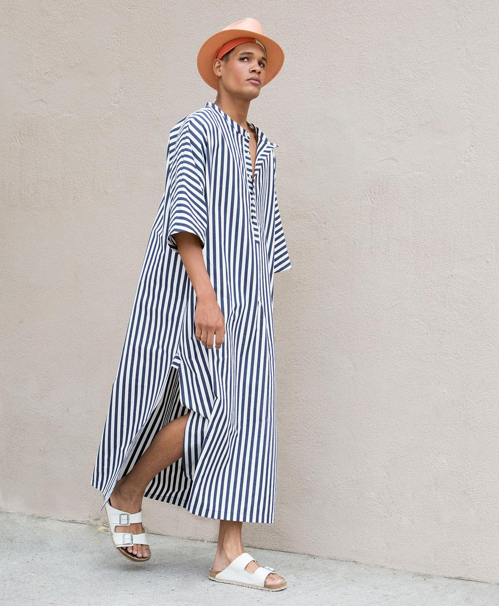awning stripe max caftan squid ink/navy