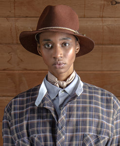 felted wool fedora rust