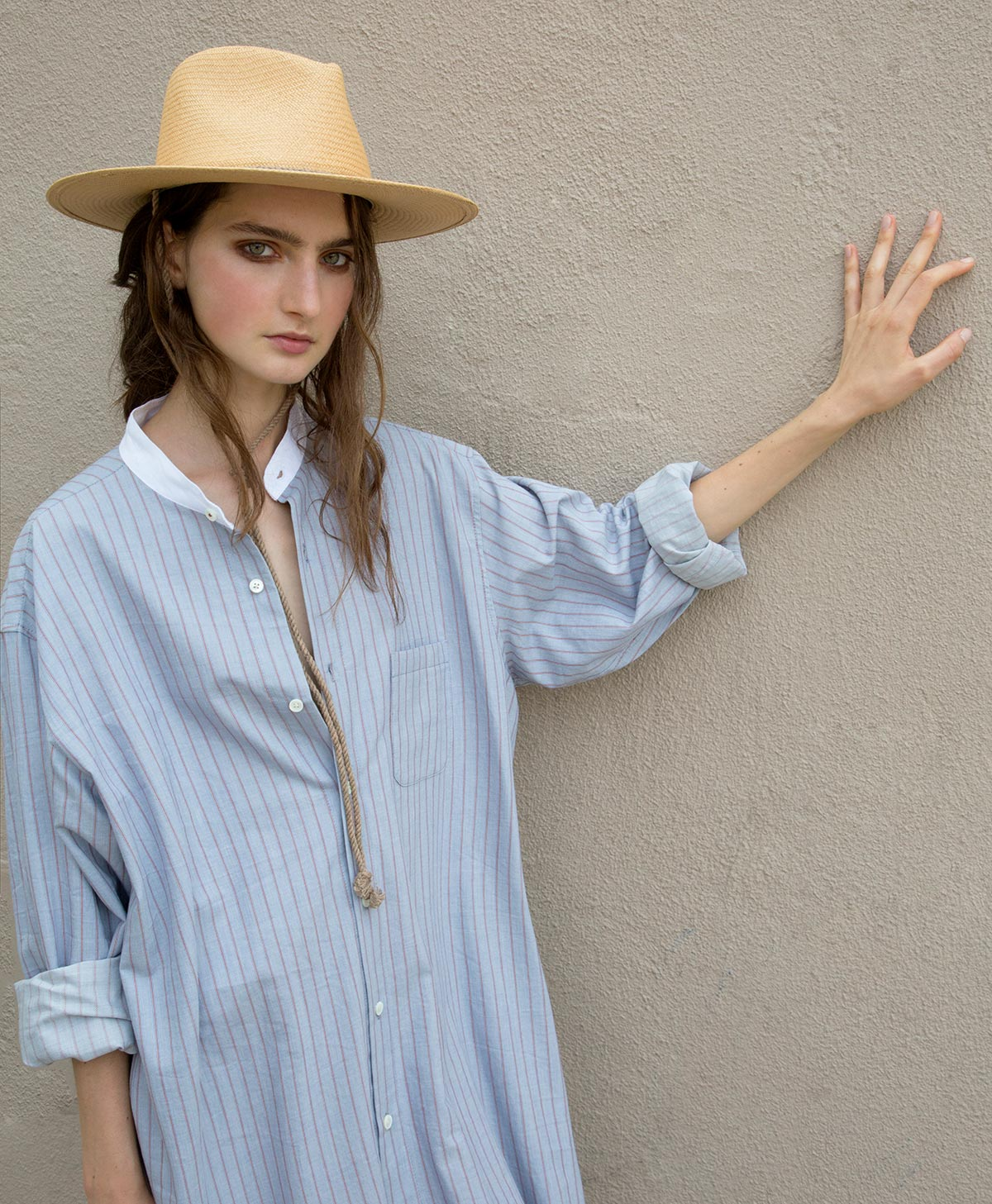 sky stripe long shirt