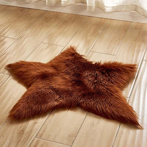 Stella - Faux Sheepskin Star Rug