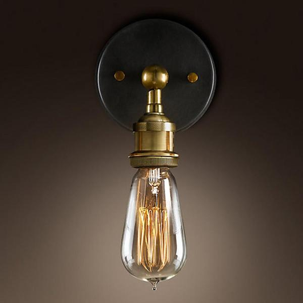 Caz - Country Style Brass Wall Lamp