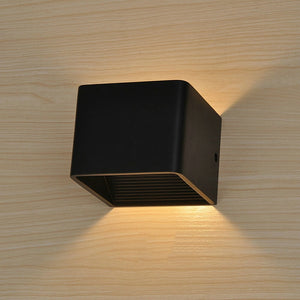 Bale - Wooden Modern LED Up Down Cube Wall Lamp - Dreamly Decor