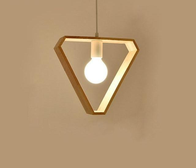 Gio - Geometric Hanging Wooden Lights - Luxury Modern Decor