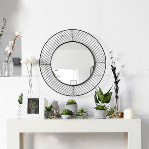 Knox - Round Metal Mirror - Luxury Modern Decor