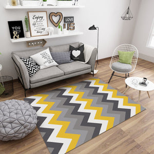 Large Geometric Marble Pattern Rug
