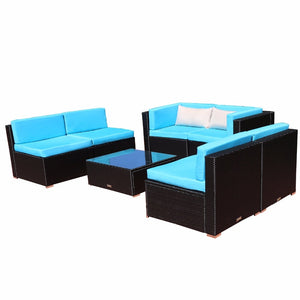 Leandro - 7 Piece Outdoor Patio Rattan Furniture