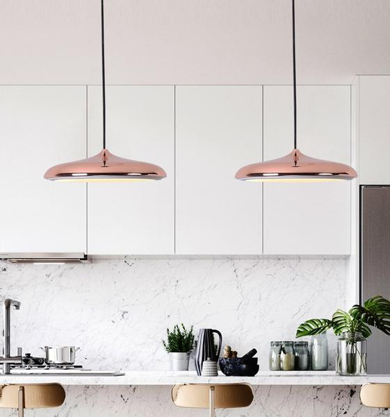 Post - Modern Nordic Circular LED Hanging Lamps - Dreamly Decor
