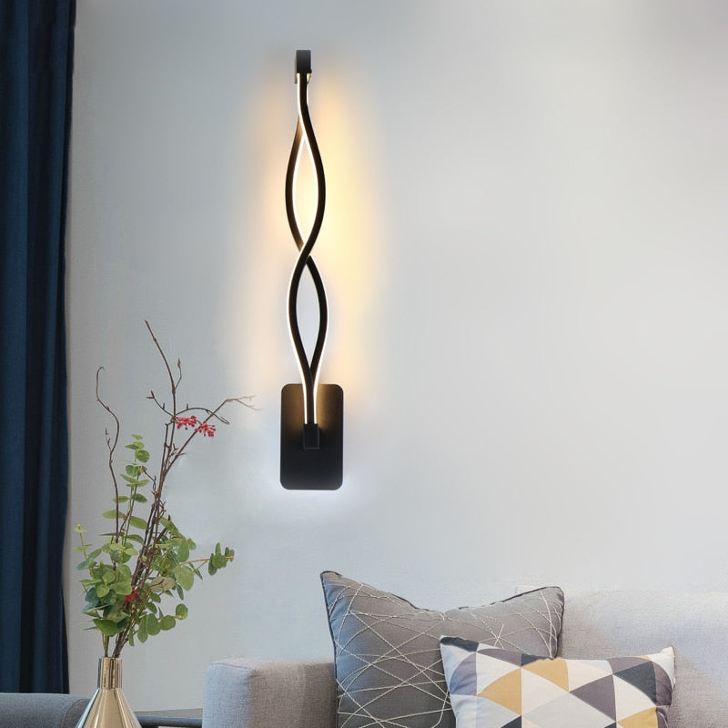 Twisted LED Wall Lamp - Dreamly Decor