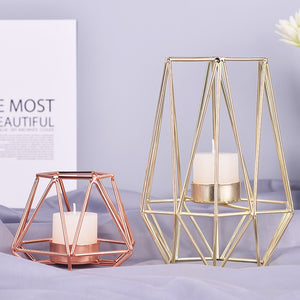 Diedra - Modern Geometric Cage Candle Holder