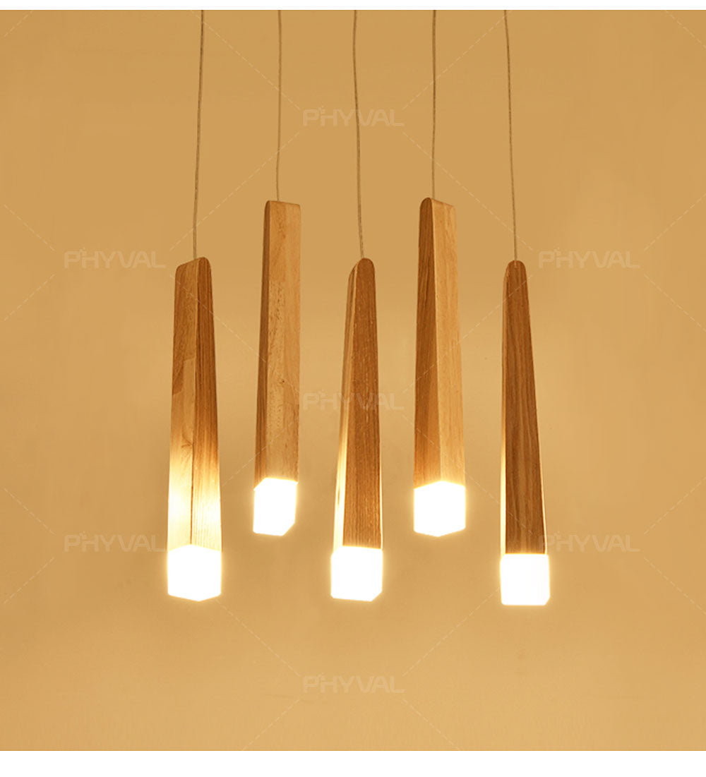 Led Pendant Lamp  matchstick Pendant Lamp wooden light creative pendant lamp bar saloon restaurant home Modern  solid wood Lamp
