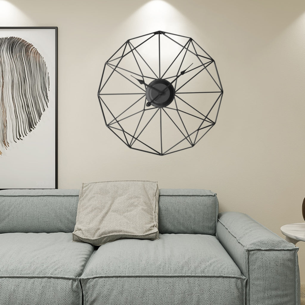 Barley - Unique Modern Nordic Iron Frame Clock