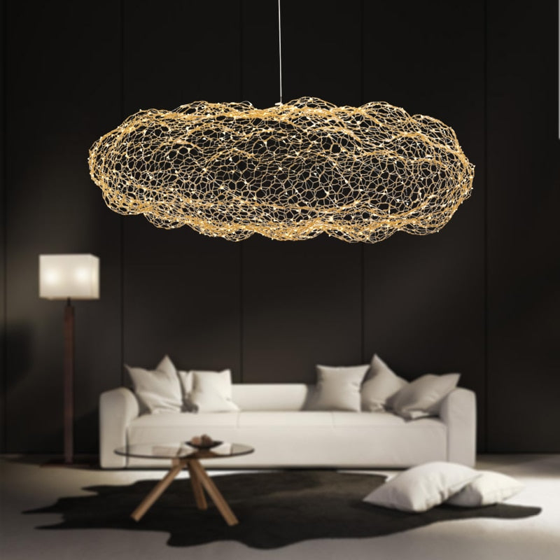 Amica - Modern Art Deco Star Light Dotted Cloud Lamps - Dreamly Decor