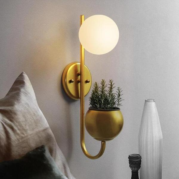 Hiram - Modern Nordic Planter Lamp - Dreamly Decor