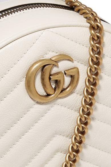 3e67a621a2abcb Gucci Marmont Circle Quilted Leather Shoulder Bag White – Hadwai