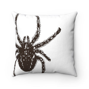 Trick Or Treat Spider Spun Polyester Square Pillow Case