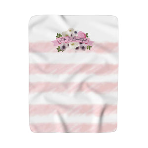 Watercolor Garden Sherpa Fleece Blanket