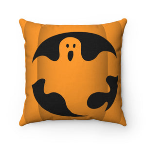 Trick or Treat Ghost Spun Polyester Square Pillow Case