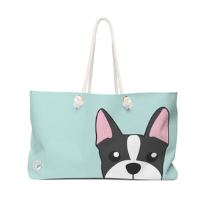 Boston Terrier Paw Prints Weekender Bag