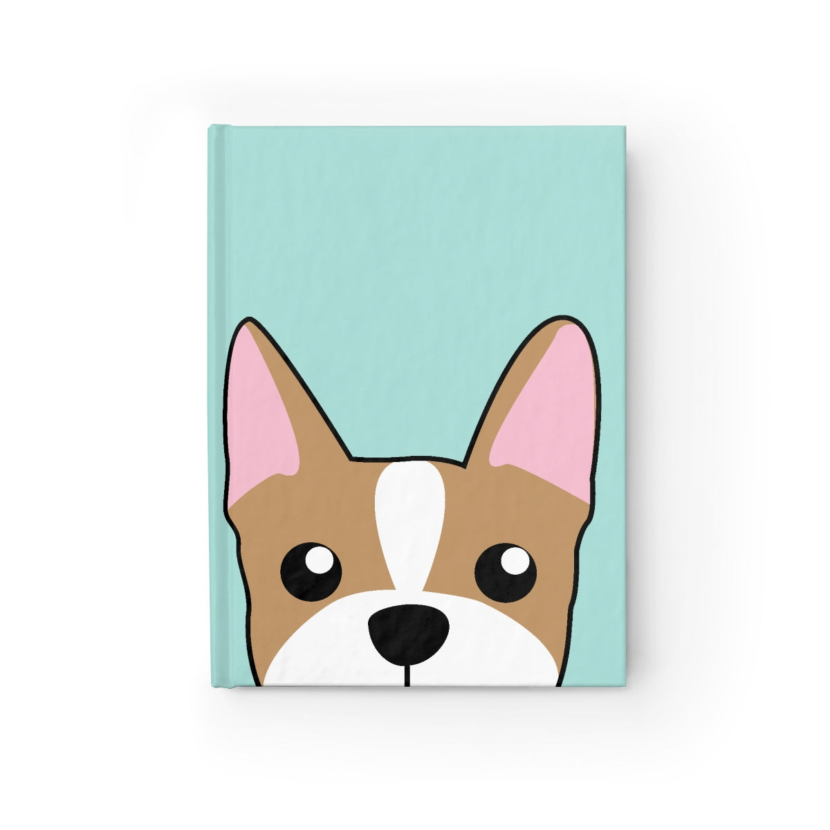 Frenchie Paw Prints Journal - Ruled Line