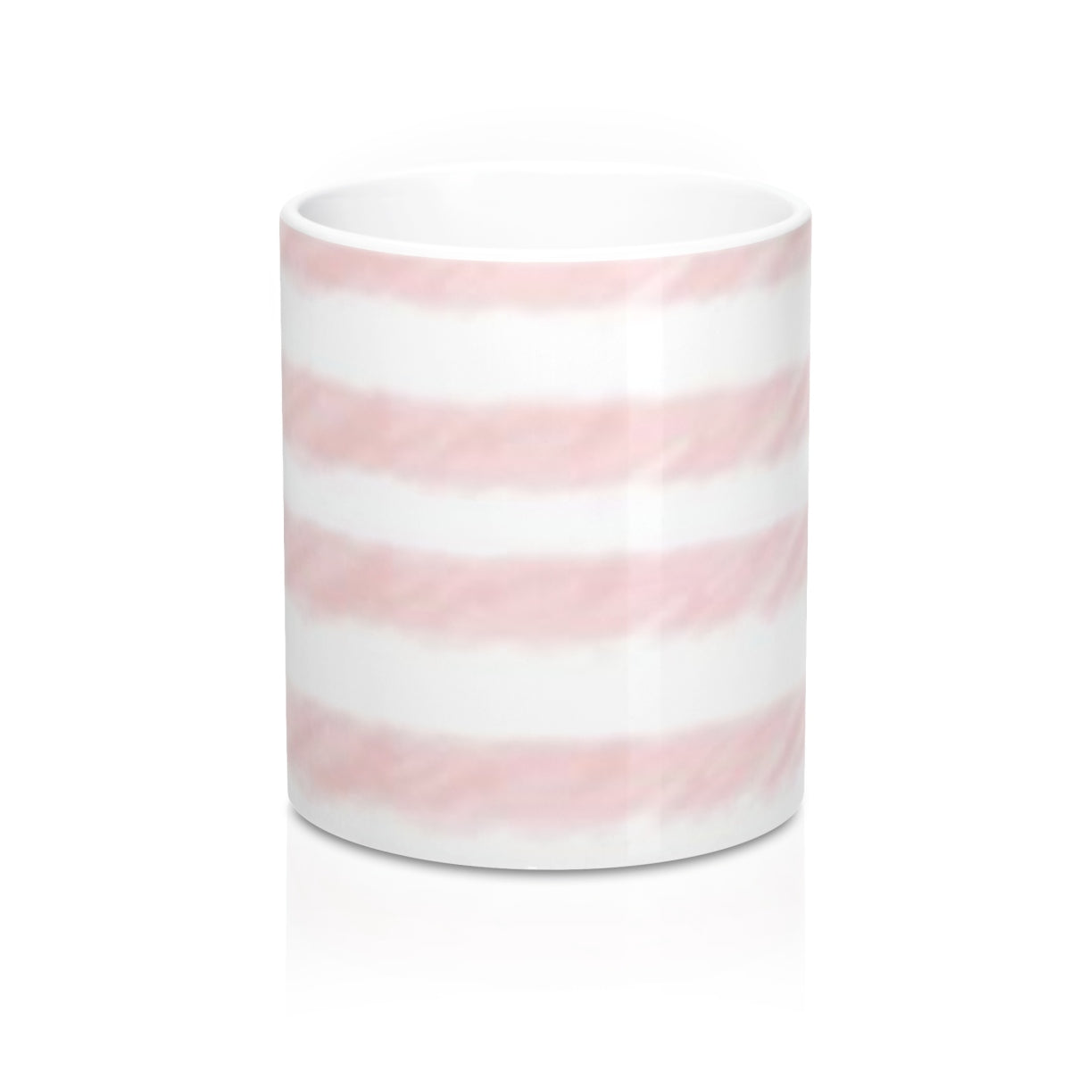 Pink Watercolor Stripe  Mug 11oz