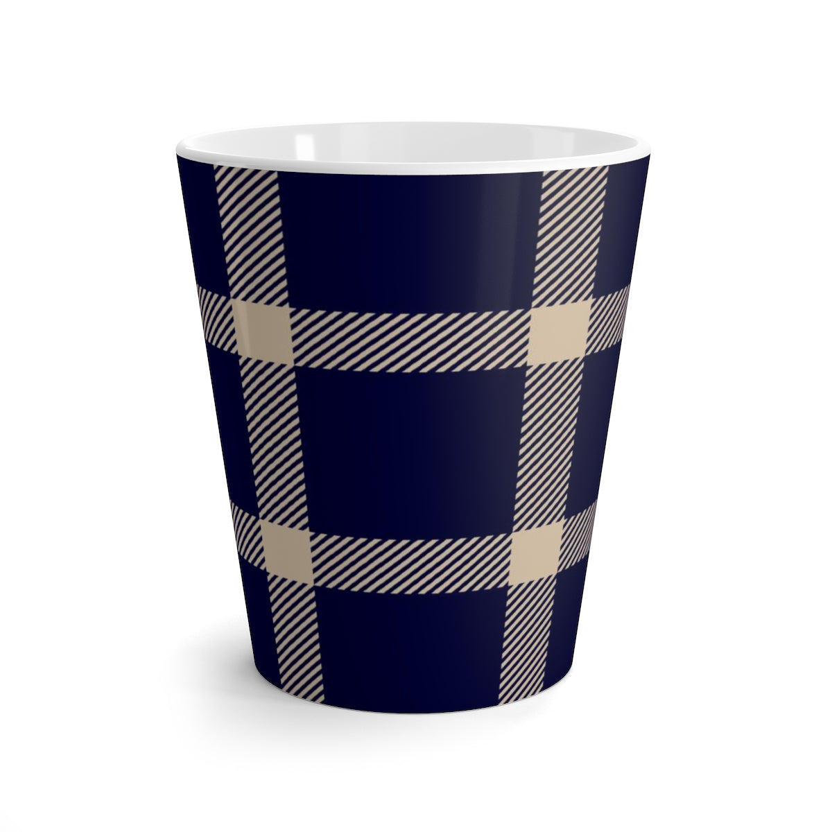 Holiday Blue Plaid Latte mug