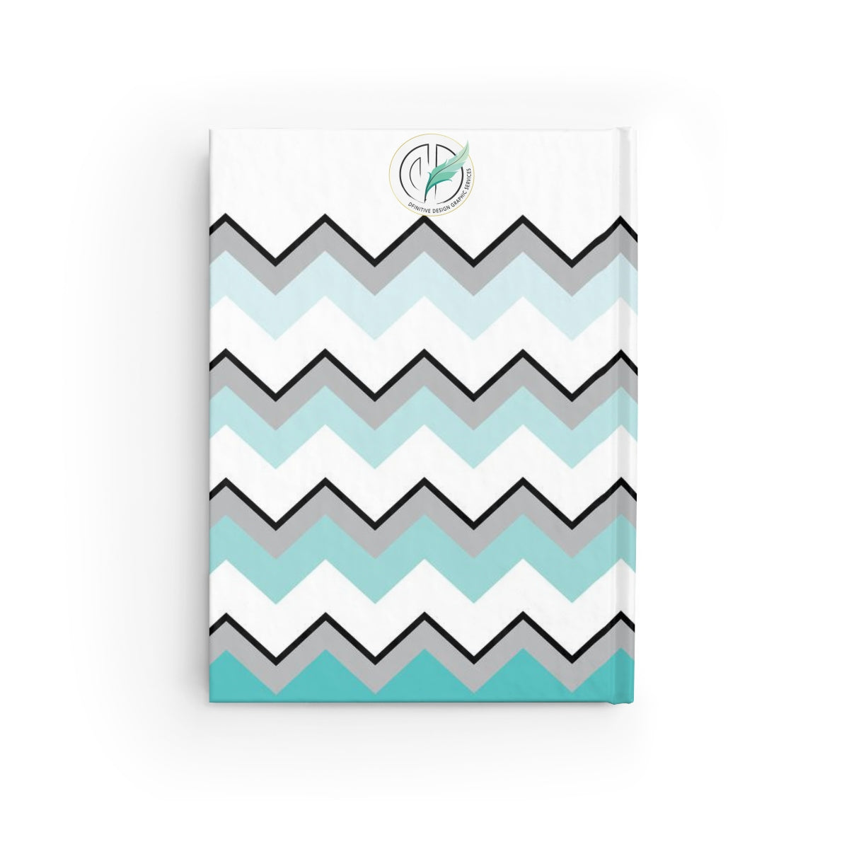Ombre Teal Chevron Journal - Blank