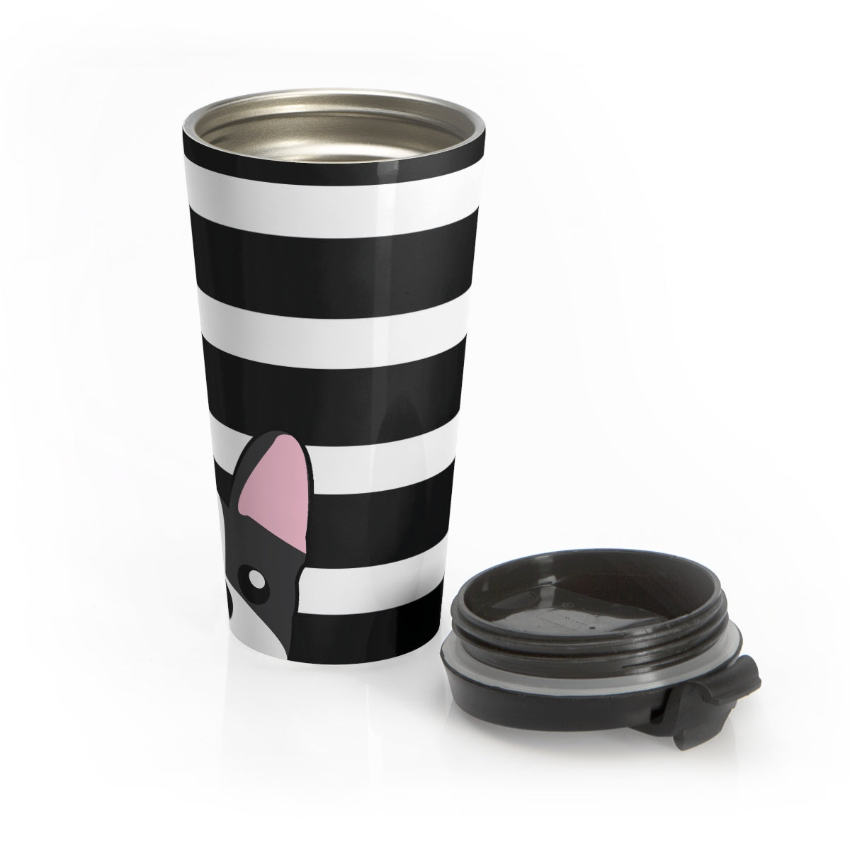 Boston Terrier Paw Prints Stainless Steel Travel Mug