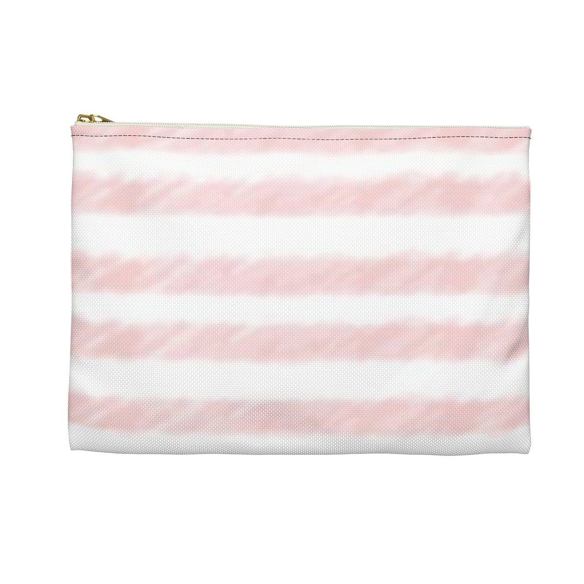 Pink Watercolor Stripe Accessory Pouch