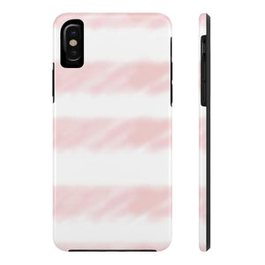 Pink Watercolor Stripe Case Mate Tough Phone Cases